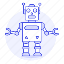 1, fashioned, old, retro, robot, toy, vintage icon