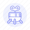 robot, small, toy, up, wind