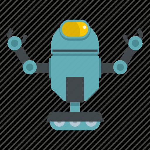 electronic, future, robot, robotic, science, technology, wheel icon