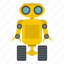 electronic, future, robot, robotic, science, technology, wheel icon