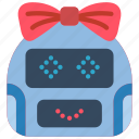 avatars, bot, girl, happy, robot icon