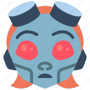 avatars, bot, droid, girl, punk, robot icon