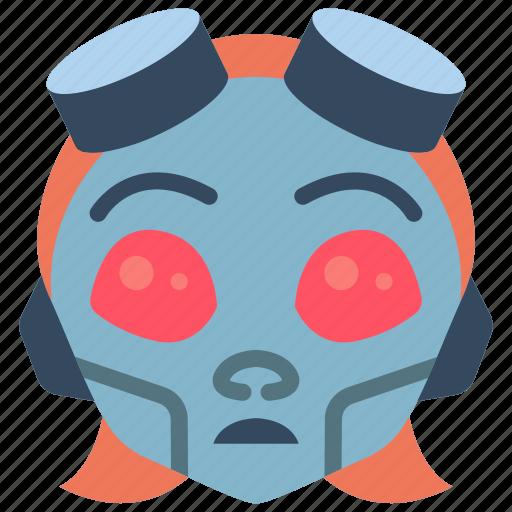 avatars, bot, droid, girl, punk, robot icon