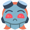 avatars, droid, girl, happy, punk, robot icon