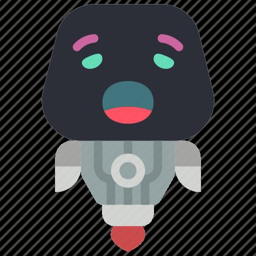 avatars, bot, droid, robot, yawn icon