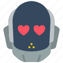 avatars, bot, droid, love, robot icon