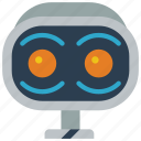 avatars, awake, bot, robot, wide icon