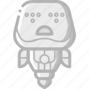 avatars, bot, droid, robot, sad icon