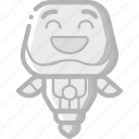 avatars, bot, droid, laughing, robot icon
