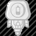 avatars, droid, low, power, robot icon