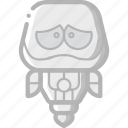 avatars, bot, droid, robot, upset icon