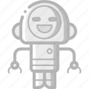 avatars, bot, droid, happy, robot icon