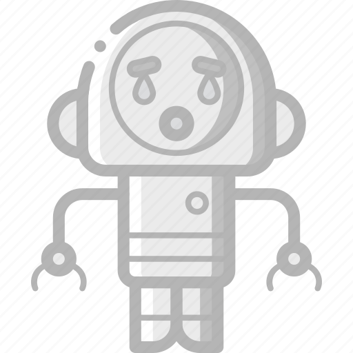 avatars, bot, cry, droid, robot icon