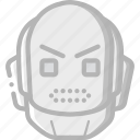 angry, avatars, bot, droid, robot icon