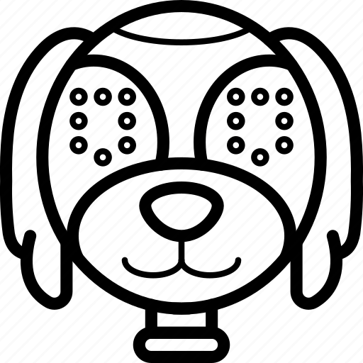 avatars, bot, droid, puppy, robot icon