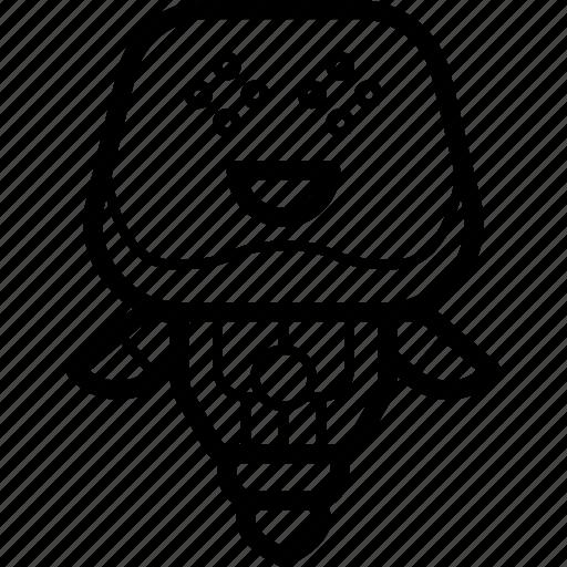 avatars, bot, droid, happy, robot icon