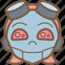 avatars, droid, girl, happy, punk, robot icon
