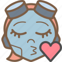 avatars, bot, droid, gilr, kiss, robot icon