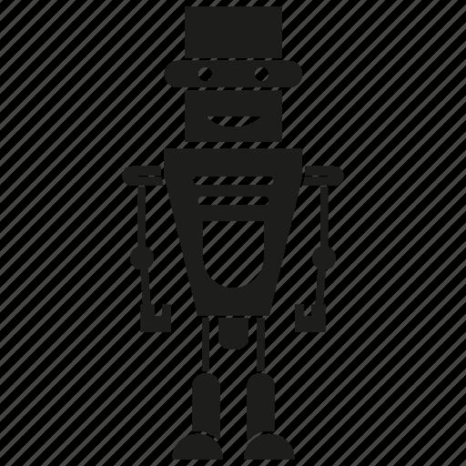 auto, automation, character, cyborg, humanoid, machine, robot icon