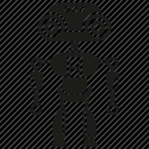 artificial intelligence, automation, cyborg, humanoid, machine, mechanical, robot icon
