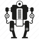 artificial intelligence, automation, cyborg, humanoid, machine, mechanical, robot icon