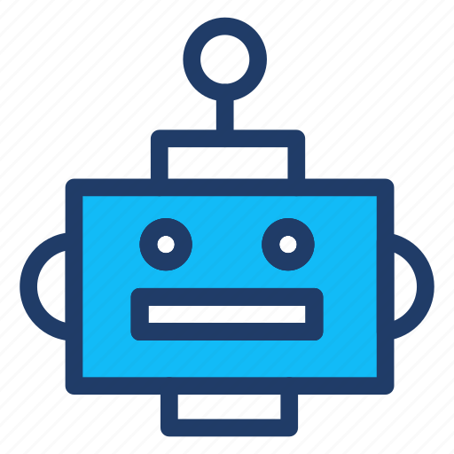 machine, programming, robot, science icon