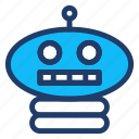 head, robot, starwars, technology icon