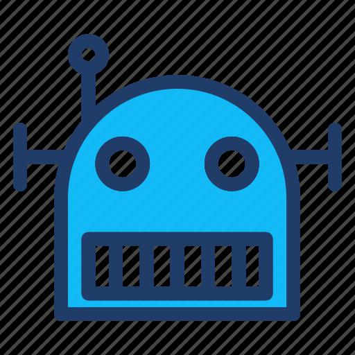 head, machine, robot, tchnology icon