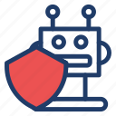 robot, security, shield, technology icon