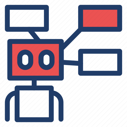 automatic, machine, robot, techonology icon