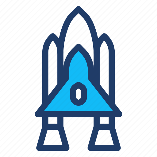 launcher, rocket, spaceship, transport icon