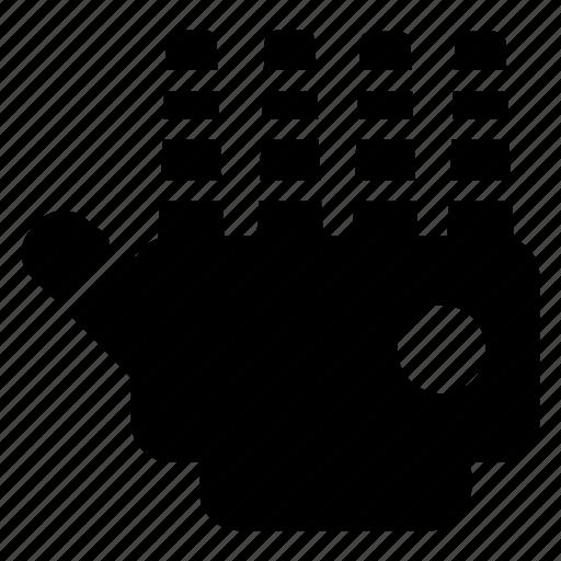 hand, machine, programming, robotics icon