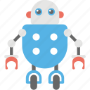 cartoon robot, rc robot toy, remote control robot, robot, robot technology icon
