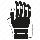artificial intelligence, control, electronic, hand, robotic arm, robotic hand, robotics icon