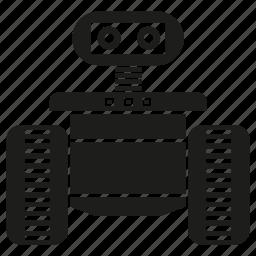 artificial intelligence, electronic, rescue robot, robot, robotics icon