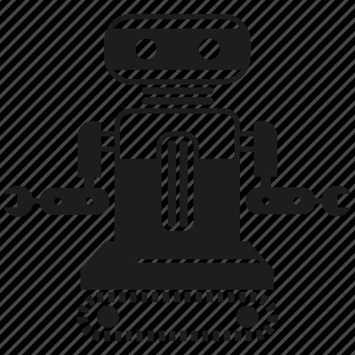 artificial intelligence, auto, control, humanoid, robot, robotics icon