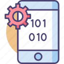 app, binary, binary code, code, development, programming icon