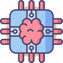 brain, brain chip, chip, cpu, memory, microchip, processor icon