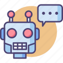 ai, assistant, chat bot, chatbot, robot, smart icon