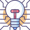 creative, creative technology, creativity, innovation, innovative, light bulb, technology icon