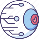 cyber, cyber eye, eye, eye ball, eyeball icon
