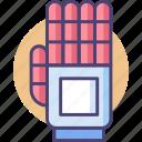 exoskeleton, hand, robot hand, robotic hand icon