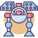 mech, military robot, missile, missile mech, robot weapon icon