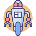 android, bot, cyborg, droid, machine, robot icon