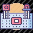 circuit, electronic, electronics, protoboard, transistor icon