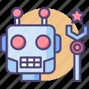 android, bot, droid, machine, robot, robotics icon