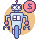 cost, price, pricing, robot, robot for sale, sale icon