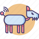 dog, robot, robot dog, robotic dog icon