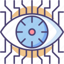 digital eye, eye tech, eye technology, eyetap icon