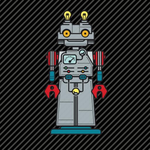 Automation, autonomous, computer, machine, mechanical, robot, robotic icon - Download on Iconfinder